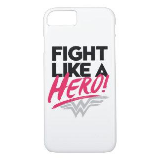 Capa iPhone 8/ 7 Mulher maravilha - luta como um herói
