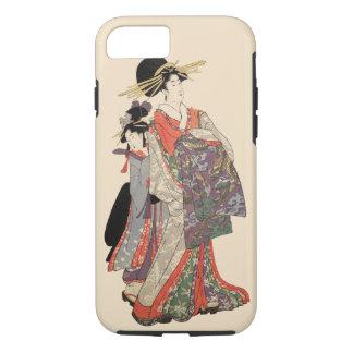 Capa iPhone 8/ 7 Mulher no quimono colorido (impressão do japonês