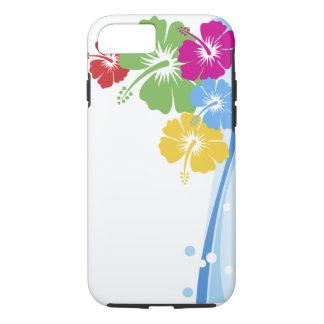 Capa iPhone 8/ 7 Multa da forma da flor do hibiscus floral