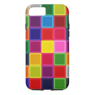 Capa iPhone 8/ 7 Multi quadrados coloridos Iphone feminino 7, caso