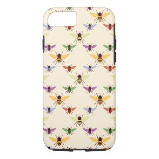Capa iPhone 8/ 7 Multi teste padrão retro dos zangões das abelhas