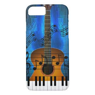 Capa iPhone 8/ 7 Música da guitarra e do teclado