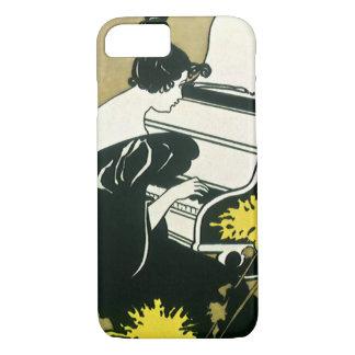 Capa iPhone 8/ 7 Música do vintage, senhorita Traumerei Playing