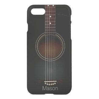 Capa iPhone 8/7 Música preta da guitarra acústica