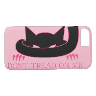Capa iPhone 8/ 7 Não pise em mim o gatinho cor-de-rosa
