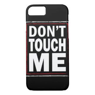 Capa iPhone 8/ 7 Não toque em me cobrir preto do iPhone 7