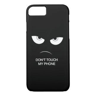 Capa iPhone 8/ 7 Não toque em meu telefone - caso protetor