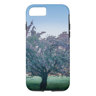 Capa iPhone 8/ 7 Nascer do sol da primavera, árvore florescida no