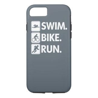 Capa iPhone 8/ 7 Natação. Bicicleta. Funcione… o orgulho do