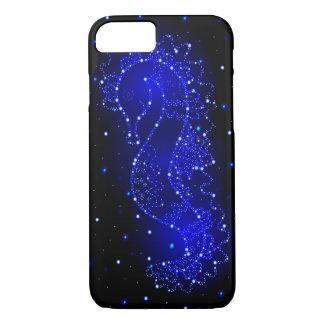 Capa iPhone 8/ 7 natações do cavalo de mar nas luzes