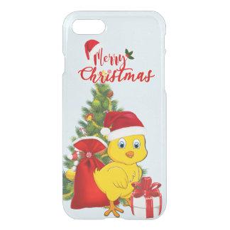Capa iPhone 8/7 Natal pequeno da galinha do bebê
