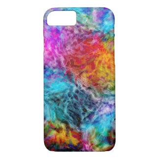 Capa iPhone 8/ 7 Nebulosa abstrata do arco-íris