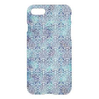 Capa iPhone 8/7 Niagara e damasco azul de Shibori do Batik de