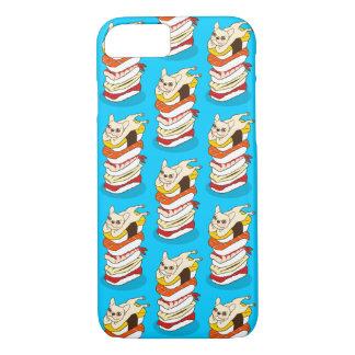 Capa iPhone 8/ 7 Noite japonesa do sushi para o buldogue francês