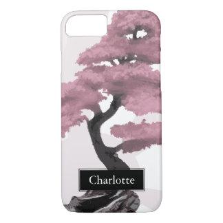 Capa iPhone 8/ 7 Nome abstrato do costume dos bonsais da árvore de