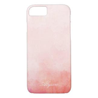 Capa iPhone 8/ 7 Nome cor-de-rosa do costume da tintura do mergulho