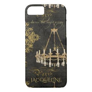 Capa iPhone 8/ 7 Nome da dança do candelabro da tipografia de Paris