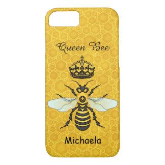 Capa iPhone 8/ 7 Nome do costume da coroa da abelha de rainha do