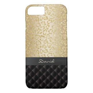 Capa iPhone 8/ 7 Nome luxuoso do costume do impressão do leopardo