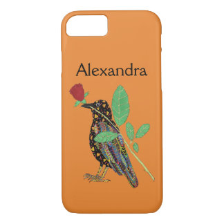 Capa iPhone 8/ 7 Nome mexicano do costume da arte do corvo & da