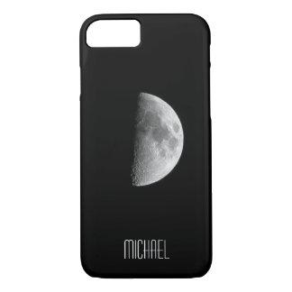 Capa iPhone 8/ 7 Nome personalizado legal da meia lua