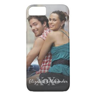 Capa iPhone 8/ 7 Nomes de XoXo do amor do dia dos namorados da foto