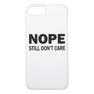 Capa iPhone 8/ 7 Nope ainda não se importa