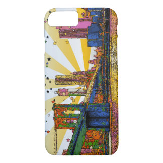 Capa iPhone 8/ 7 Nova Iorque psicadélico: Ponte de Brooklyn, WTC #1