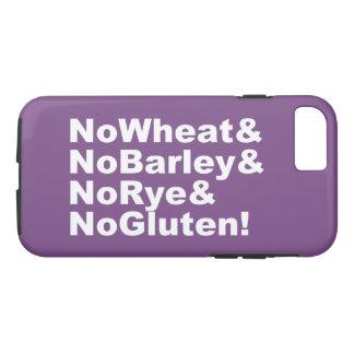 Capa iPhone 8/ 7 NoWheat&NoBarley&NoRye&NoGluten! (branco)