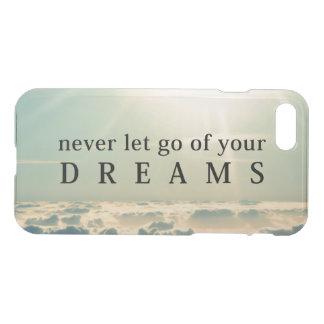 Capa iPhone 8/7 Nunca deixe vão de suas citações inspiradas dos