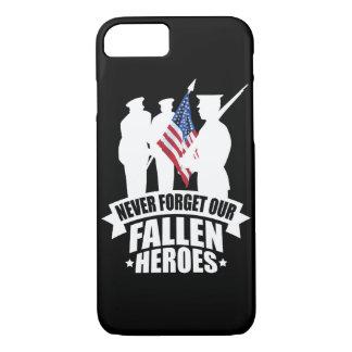 Capa iPhone 8/ 7 Nunca esqueça nossos soldados caídos