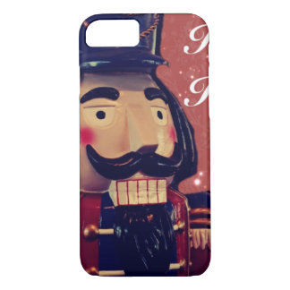 Capa iPhone 8/ 7 Nutcracker retro do vintage do feriado do Feliz