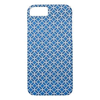 Capa iPhone 8/ 7 O abstrato elegante branco azul circunda o teste