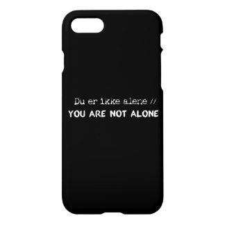 Capa iPhone 8/7 o alene/você do ikke do du er não está sozinhos