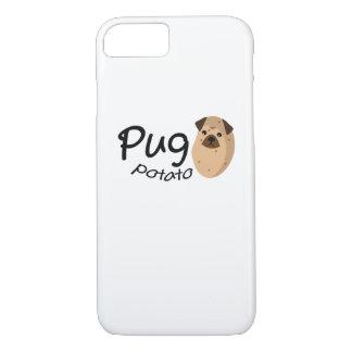 Capa iPhone 8/ 7 O amante engraçado do presente da batata do Pug do