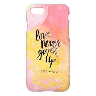 Capa iPhone 8/7 O amor nunca dá acima