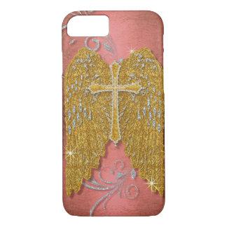 Capa iPhone 8/ 7 O anjo do olhar da jóia do diamante do brilho de w