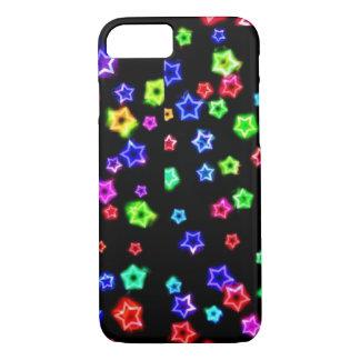 Capa iPhone 8/ 7 O arco-íris de néon Stars o caso