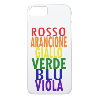 Capa iPhone 8/ 7 O arco-íris italiano colore o iPhone 8/7 de caso