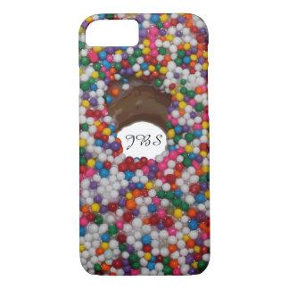Capa iPhone 8/ 7 O arco-íris polvilha o monograma do furo da