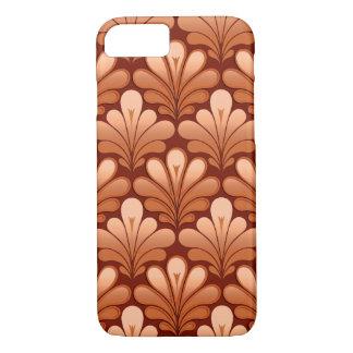 Capa iPhone 8/ 7 O art deco Shell modela, reveste e oxida Brown