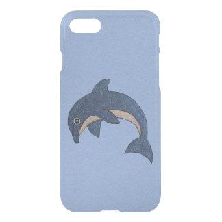Capa iPhone 8/7 O branco azul escuro vibrante do golfinho Sparkles