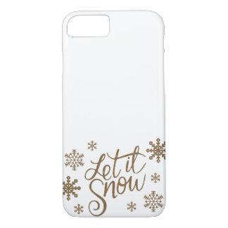 Capa iPhone 8/ 7 O brilho elegante do ouro deixou-o nevar flocos de