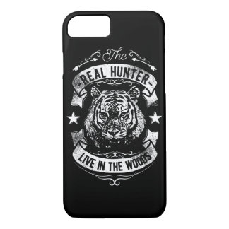 Capa iPhone 8/ 7 O caçador real vive no telefone lustroso Cas das