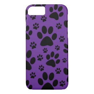 Capa iPhone 8/ 7 o caso do iPhone 7, pata roxa imprime, pet, animal
