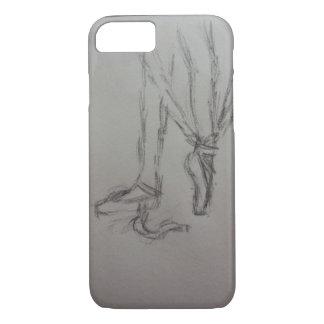 Capa iPhone 8/ 7 o dançarino de balé que pôr sobre o pointe calça a