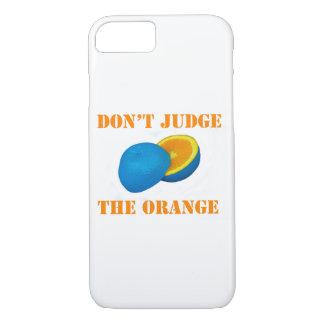 Capa iPhone 8/ 7 O design engraçado da fruta NÃO JULGA a caixa