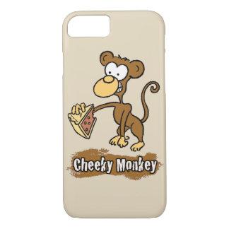 Capa iPhone 8/ 7 O design insolente do macaco tem o macaco apreciar