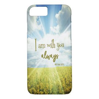 Capa iPhone 8/ 7 O deus é com você sempre verso da bíblia