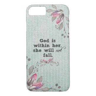 Capa iPhone 8/ 7 O deus está dentro de seu verso da bíblia